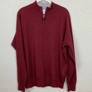 Mens Peter Millar Cashmere 1/4 Zip Pullover - LG